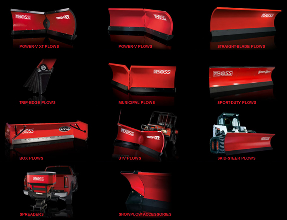 The range of Boss Snow Plows we offer
